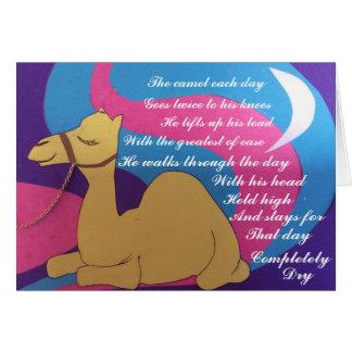 Poème cosmique de chameau cartes