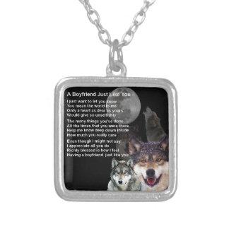 Poème d'ami - conception de loup collier