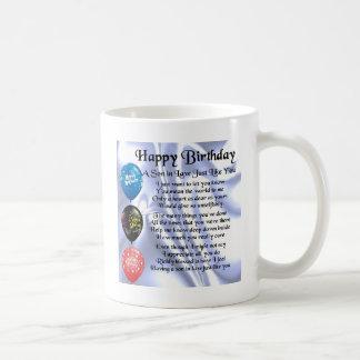 Poème de beau-fils - conception de joyeux mug