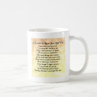 Poème de beau-frère - crème mug