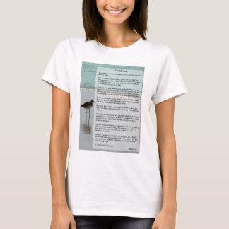 Poème de desiderata - mouette sur la scène de t-shirt