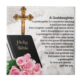 Poème de filleule - conception de bible et de carreau