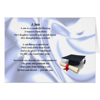 Poème de fils d'obtention du diplôme carte de vœux