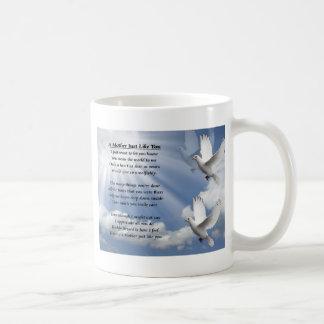 Poème de mère - colombes mug