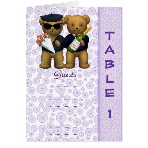 Poème lilas d'ours de nounours de mariage de nombr cartes de vœux