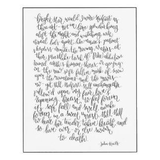 Poème lumineux d'étoile, copie de John Keats