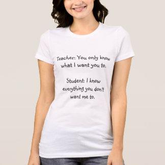 Poème lyrique drôle de T-shirt de professeur