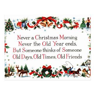 Poème vintage de Noël Cartes Postales