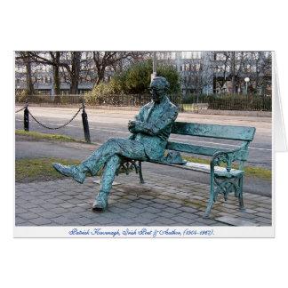 Poète irlandais de Patrick Kavenagh, sculpture Cartes