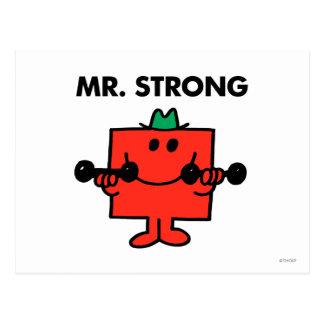 Poids de levage de M. Strong | Carte Postale