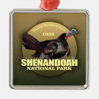 POIDS de Shenandoah NP (Turquie) Ornement Carré Argenté