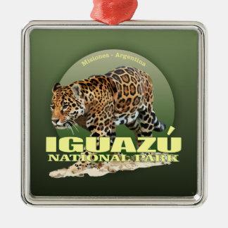 POIDS d'Iguazu NP (jaguar) Ornement Carré Argenté