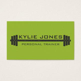 Poids personnel d'haltère de forme physique cartes de visite