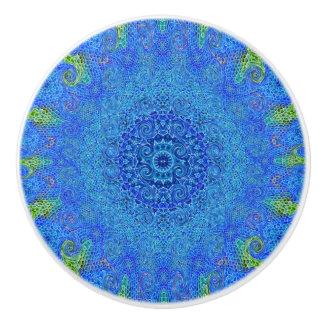 Poignée de porte de conception d'abrégé sur bleu
