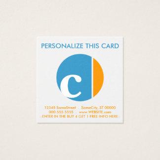 poinçon de fidélité d'écrasement de couleur carte de visite carré