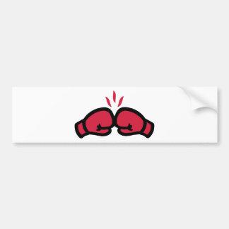 Poinçon de gants de boxe autocollants pour voiture