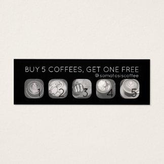 poinçon de grammes de café mini carte de visite