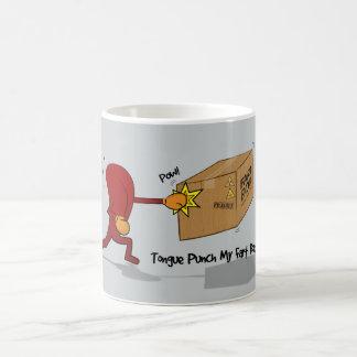 Poinçon de langue ma boîte de pet - tasse