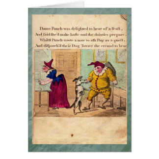 Poinçon et carte de voeux du plat II d'histoire de
