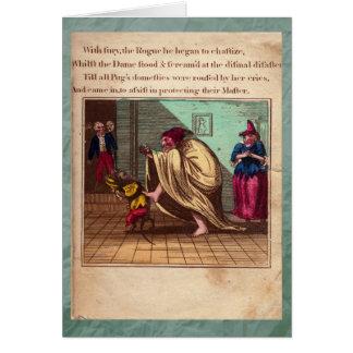 Poinçon et carte de voeux du plat IX d'histoire de