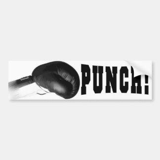 Poinçon ! Poinçon noir de gant de boxe Autocollant Pour Voiture