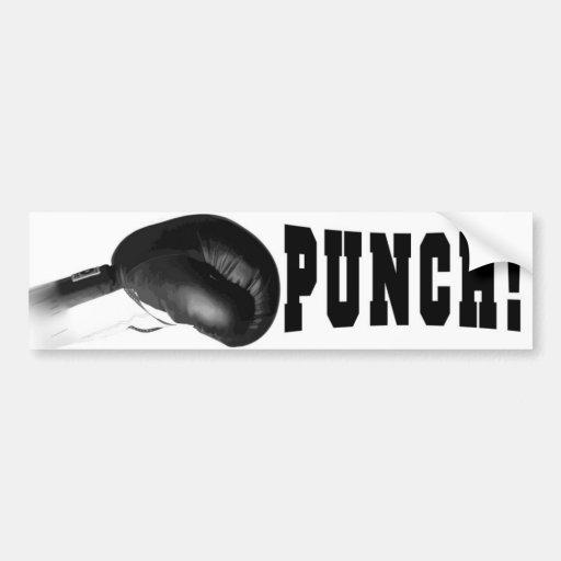 Poinçon ! Poinçon noir de gant de boxe Adhésifs Pour Voiture