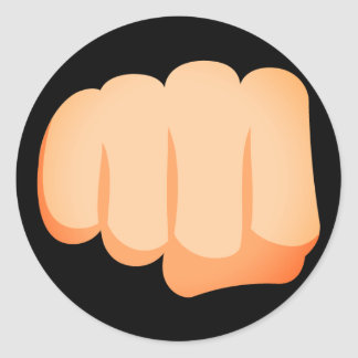 Poing Emoji de Bro Sticker Rond