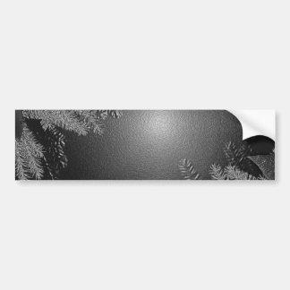 Poinsettia de Noël noire et gris I Autocollant Pour Voiture