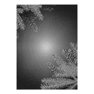 Poinsettia de Noël noire et gris I Bristols