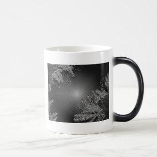 Poinsettia de Noël noire et gris III Mugs À Café