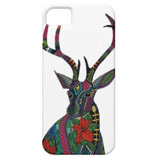 poinsettia deer white iPhone 5 cases