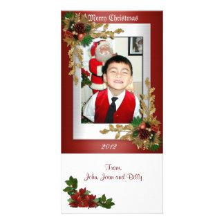 Poinsettias de Noël de carte photo Cartes De Vœux Avec Photo