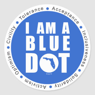 Point bleu la Floride Sticker Rond