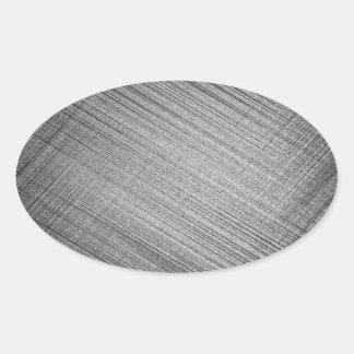 Point de charbon de bois sticker ovale