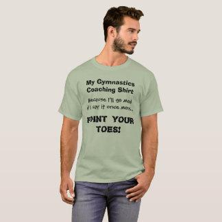 Point de chemise drôle d'entraîneur de gymnastique t-shirt