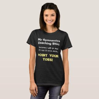 Point de gymnastique de chemise drôle d'entraîneur t-shirt