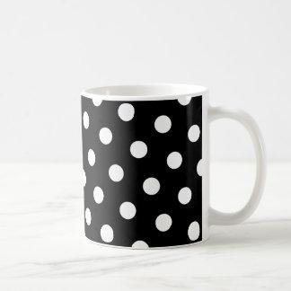 Point de polka blanc mug blanc