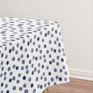 Point de polka bleu. aquarelle nappe