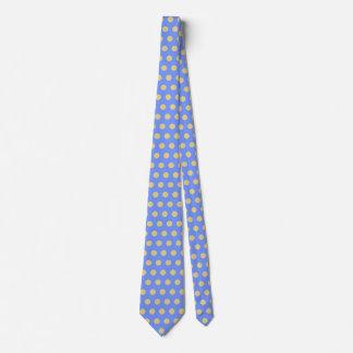 Point de polka bleu jaune cravates