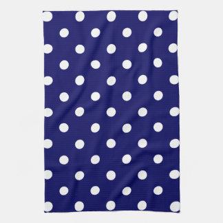 Point de polka bleu serviettes éponge