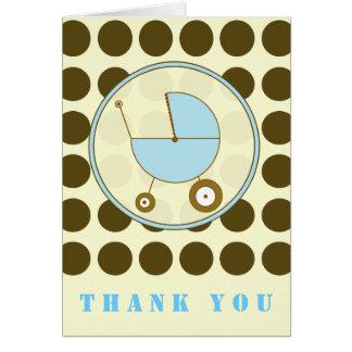 Point de polka de Brown/Merci bleu de voiture Cartes