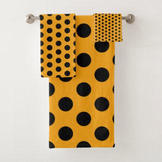 Point de polka jaune et noir d'or