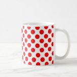 Point de polka mug blanc