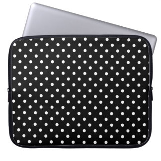 Point de polka noir chaud d'ordinateur portable de housse ordinateur portable