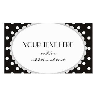 Point de polka noir et blanc carte de visite standard