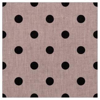 Point de polka noir rose tissu