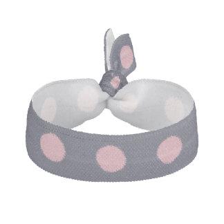 Point de polka rose élégant élastique à cheveux