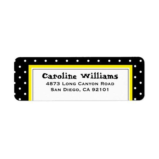 Point de polka simple étiquette d'adresse retour
