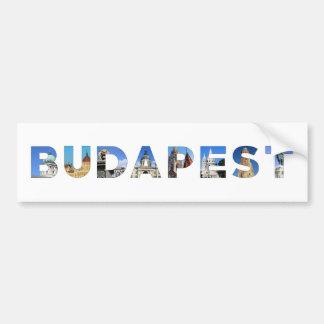 point de repère de la Hongrie de ville de Budapest Autocollant De Voiture