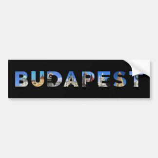 point de repère de la Hongrie de ville de Budapest Autocollant Pour Voiture